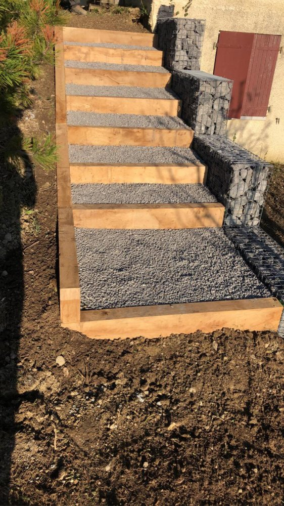 Création d'escalier à Chapeiry