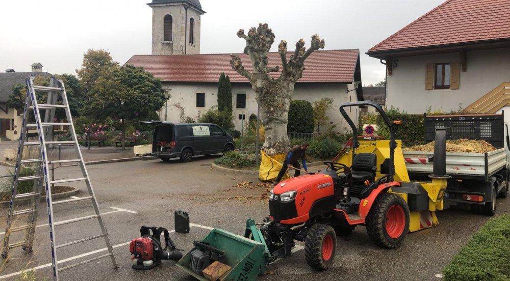 Entretient d'espaces vert pour mairie ou communes