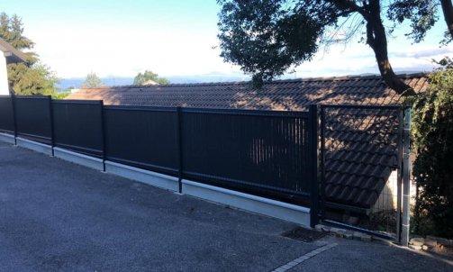 Pose de clôture avec occultant  à seynod