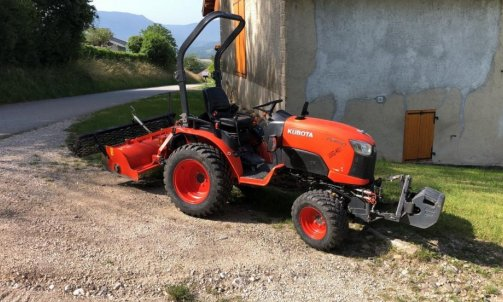 Tracteur + Enfouisseur de pierre / Aménagement gazon / Grand terrain / Création Gazon