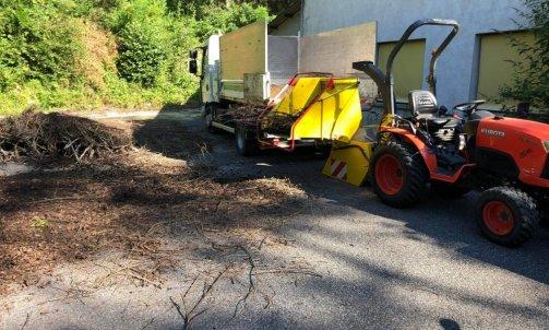 Broyage de végétaux et évacuation Annecy