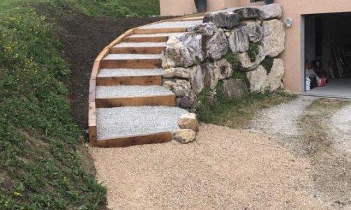 Création d'un escalier après