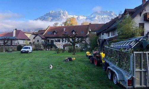 Entretient de grand espaces vert à Annecy