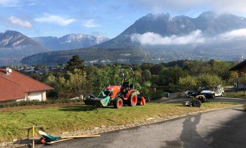 Création de gazon à  Saint Jorioz