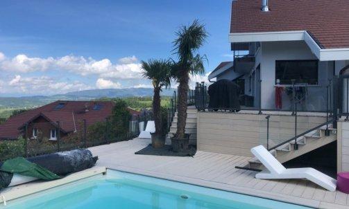 Aménagement d'abord de piscine Villaz