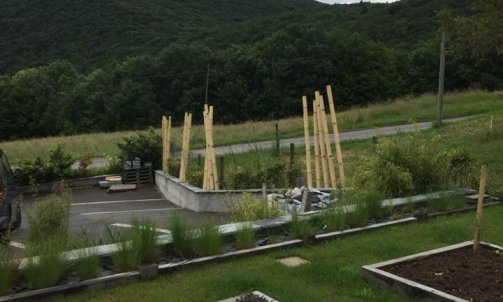 Réalisation d'un jardin sur la commune de ferriere